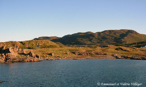 Kilchoan is the main settlement of Ardnamurchan, view from the ferry terminal for Mull