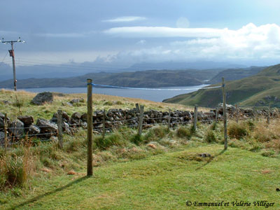 Achnacarnin, view from the chalet