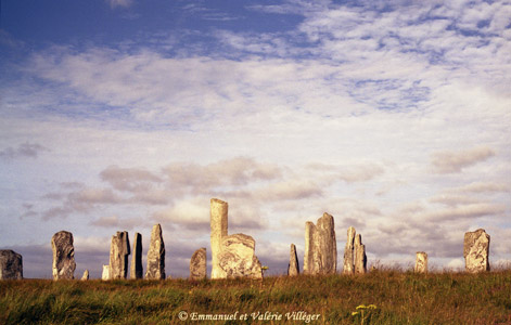 Main circle of standing stones at Calanais