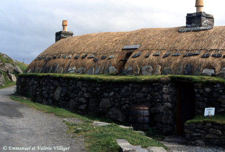 The museum in Gearrannan, reconstitution of the interior of a traditionnal house