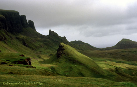 One of the strange mountains of the Trotternish ridge, the Quiraing