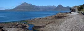 Panoramic view towards the Cuillins from Elgol