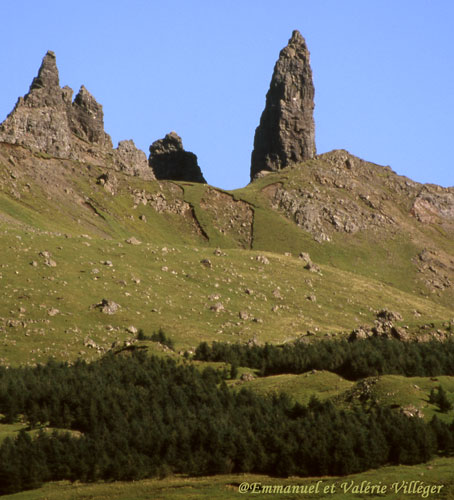 Un des symboles de Trotternish, le Old man of Storr
